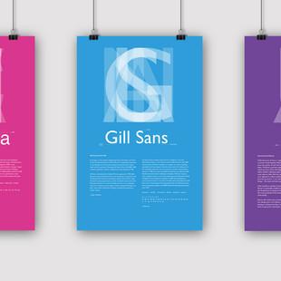 Helvetica, Gill Sans and Futura