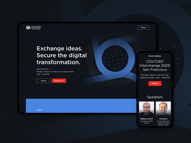 CIO/CISO Interchange Conference Landing Page