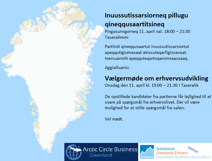 Qineqqusaartitsineq 11/04-18 - Vælgermøde 11/04-18