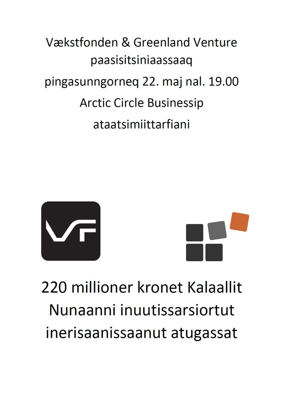 Vækstfonden & Greenland Venture afholder informationsmøde