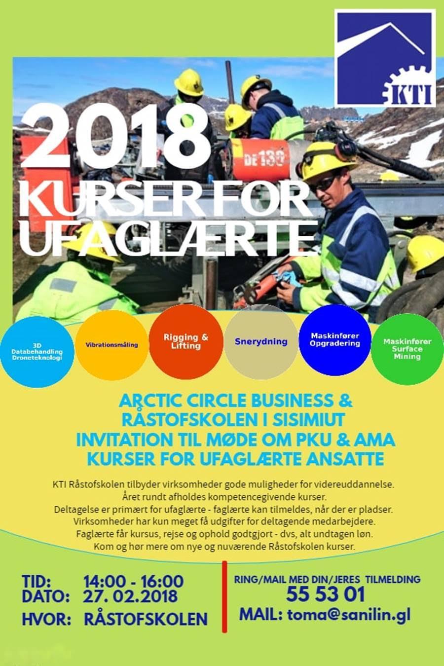 Arctic Circle Business og Råstofskolen inviterer til møde om PKU og AMA kurser.