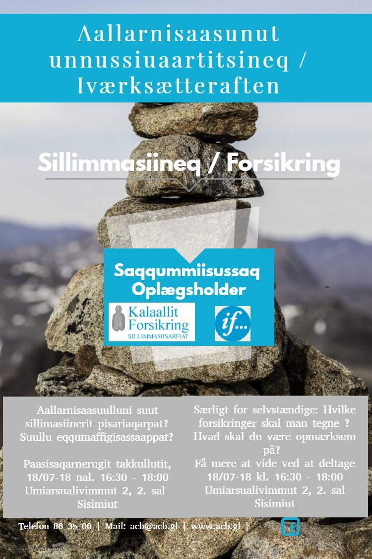 Allarnisaasunut unnussiuaartitsineq / Iværksætteraften
