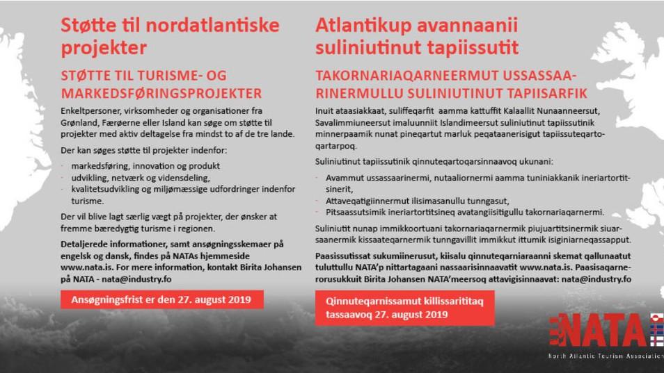 Atlantikup avannaani suliniutinut tapiissutit / Støtte til nordatlantiske projekter