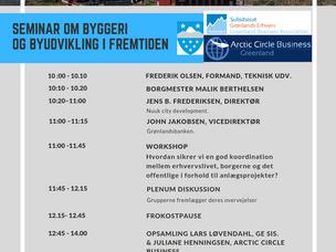 04. september 2019 Sanaartorneq illoqarfimmilu ineriartortitsineq/ Seminar om byggeri og byudvikling