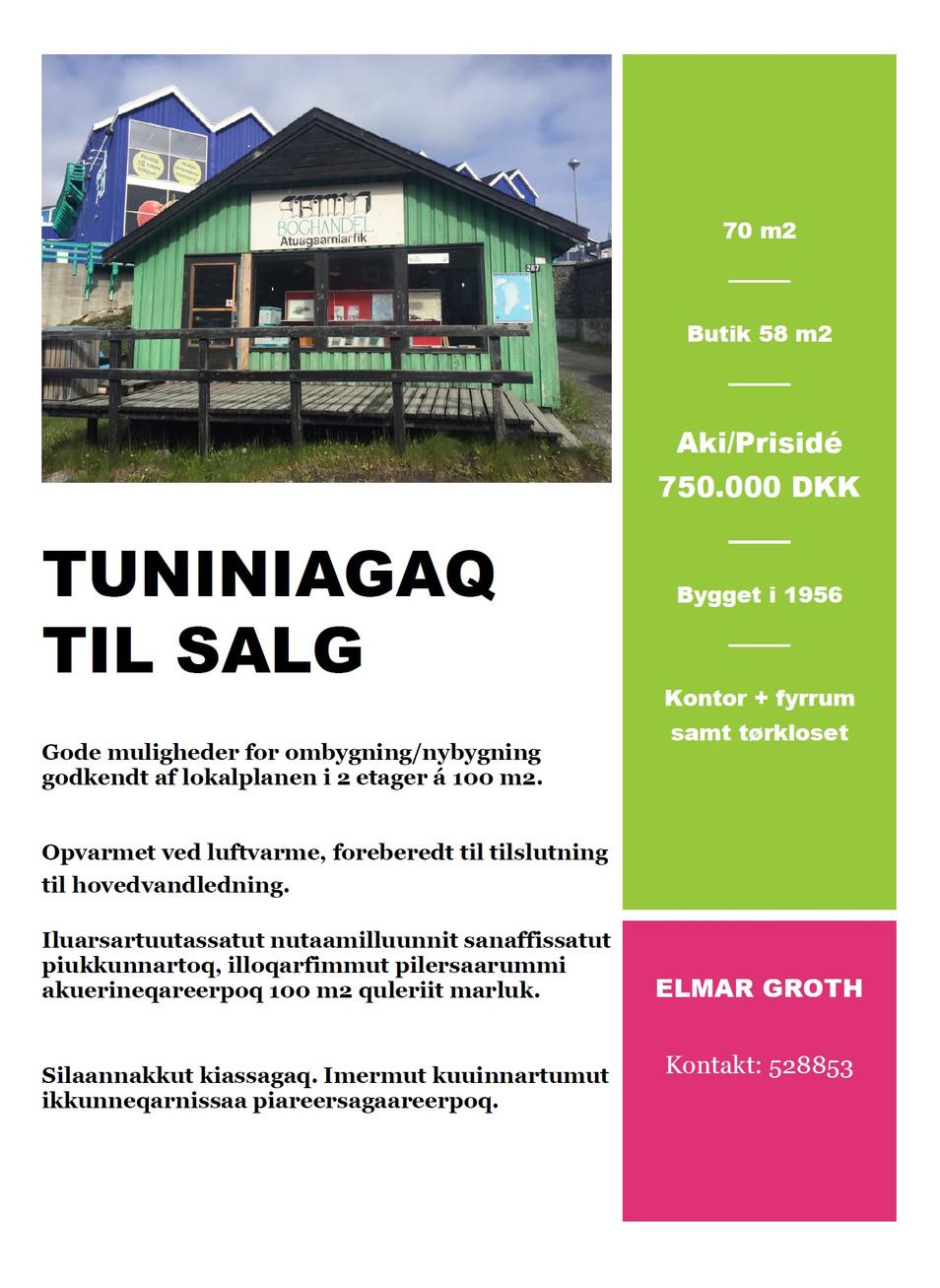 Tuniniagaq / Til salg