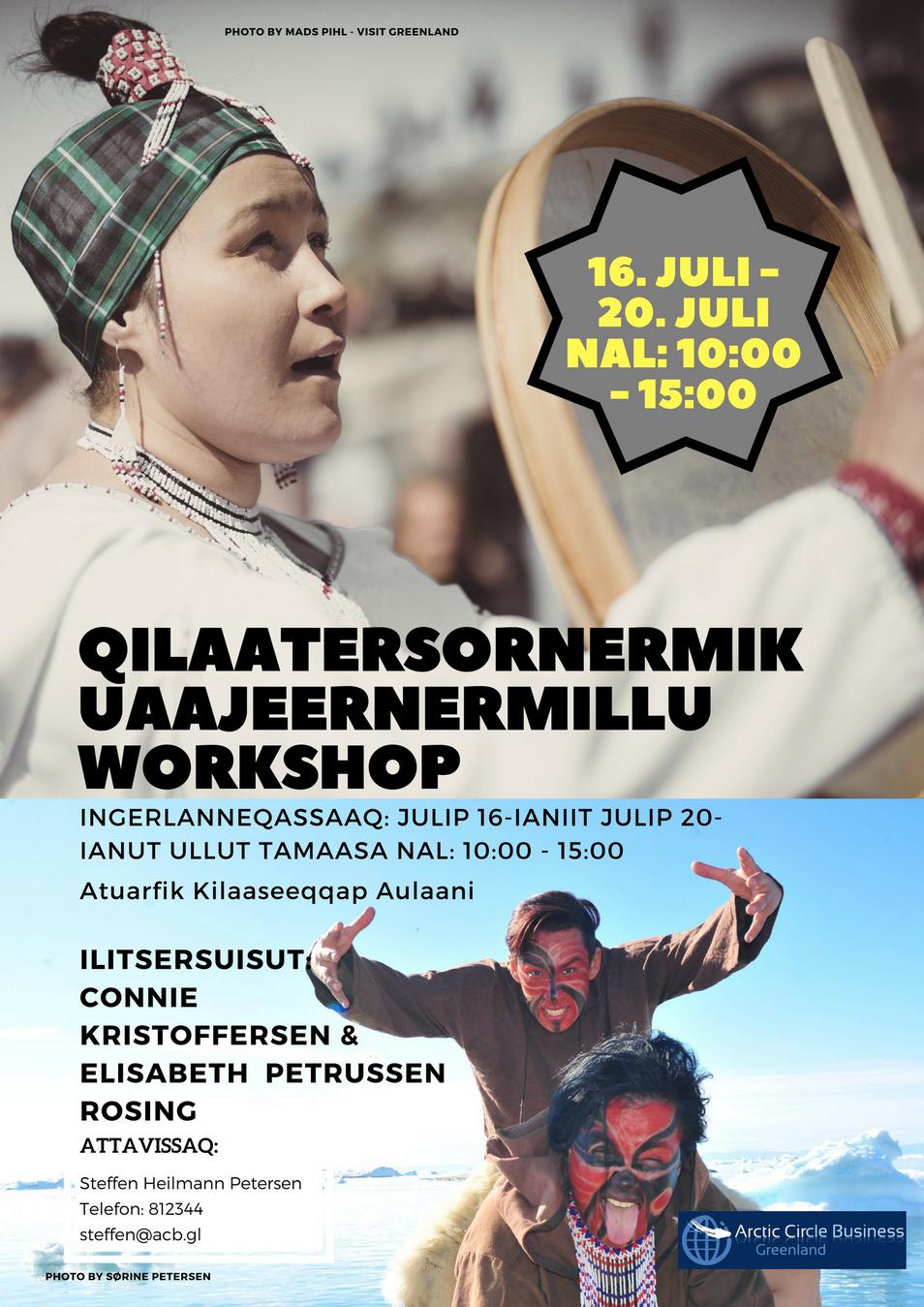 Maniitsumi: Qilaatersornermik uaajeernermillu workshop