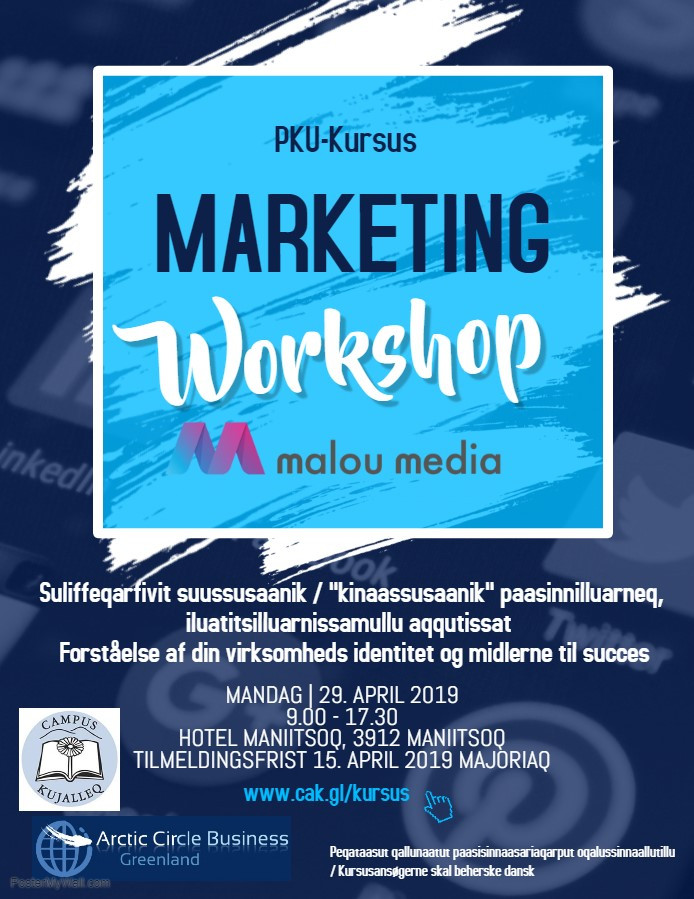 PKU-Kursus Marketing workshop - Maniitsoq