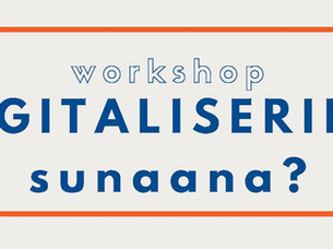 Digitaliseringsworkshop d. 5. Nov. kl. 08.45-11.45