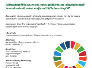 CSR GREENLAND PIKKORISSARTITSINEQ / KURSUS