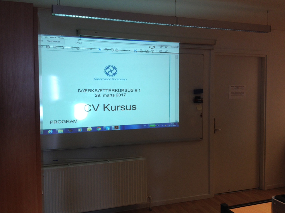 CV Kursus blev afholdt 29/03-17