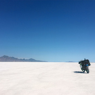 About to set my own speed record (Bonneville Speedway)