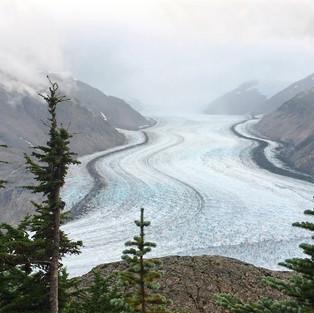 Magnificent Salmon Glacier (British Columbia - Alaska). The world's largest glacier accessible by car.