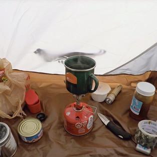 Inside my tent