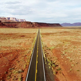 Red infinity and endless roads of Arizona