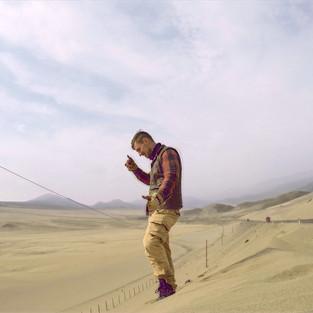 In the coastal desert of Peru