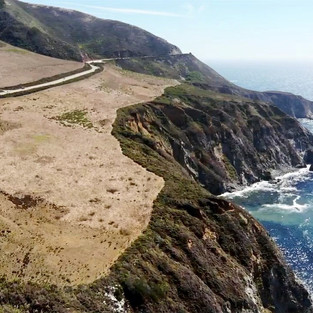 Driving through Big Sur (Pacific coast of California)
