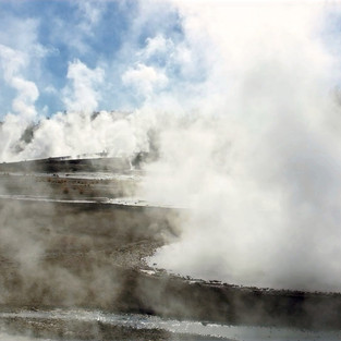 Geothermal fields of Yellowstone