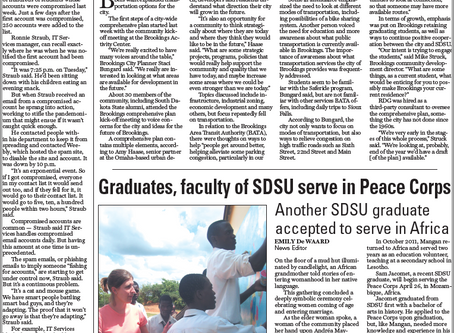 Graduates, faculty of SDSU serve in Peace Corps