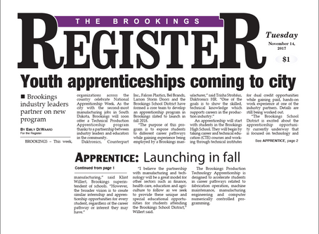Youth apprenticeships coming to city