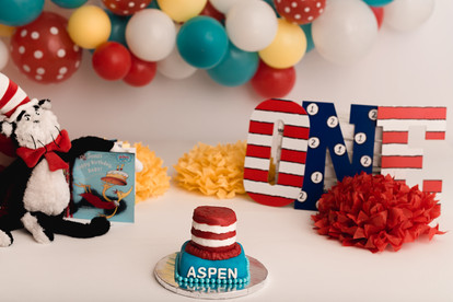 dr Seuss cake smash
