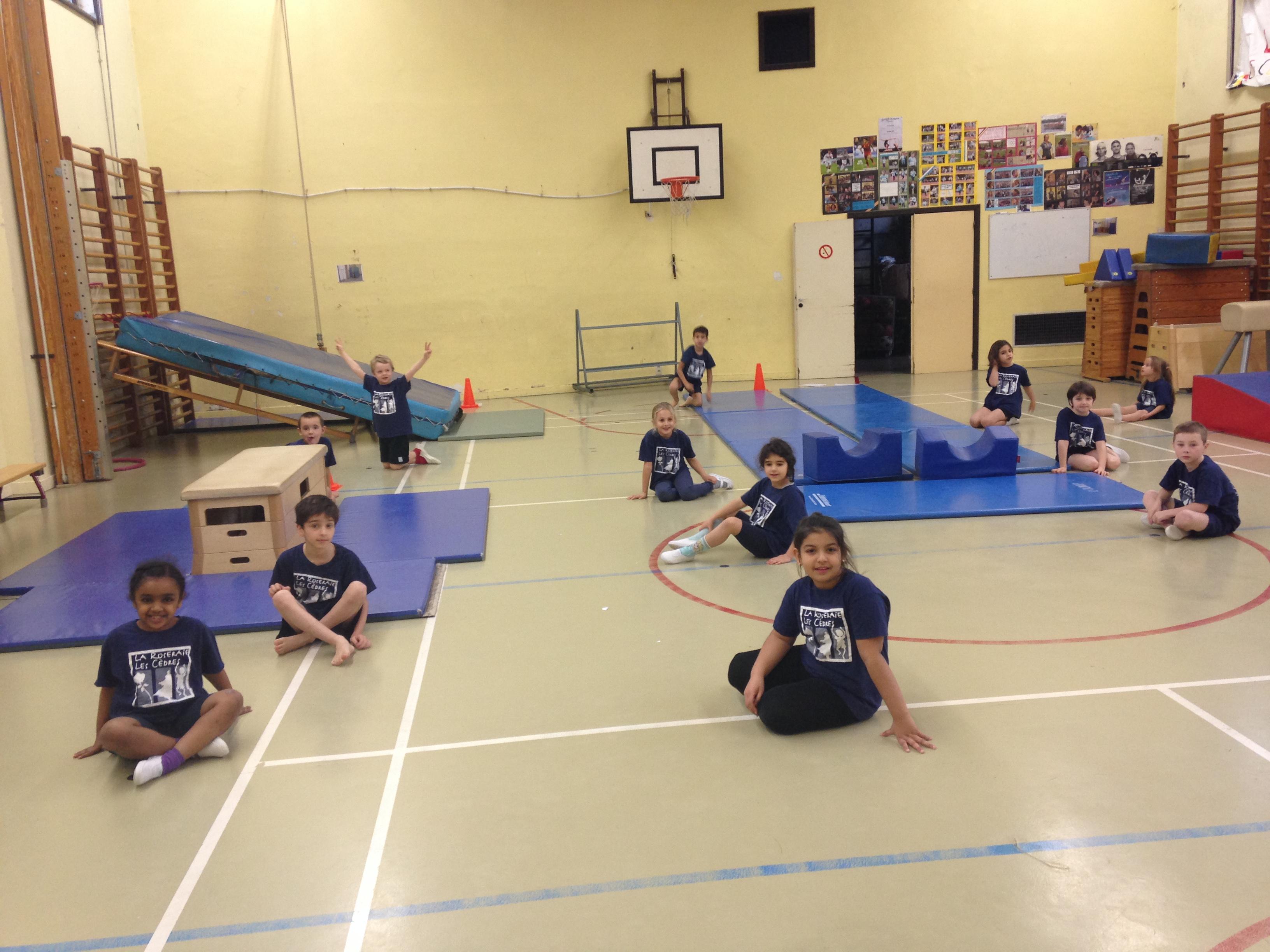 Au cours de gymnastique!