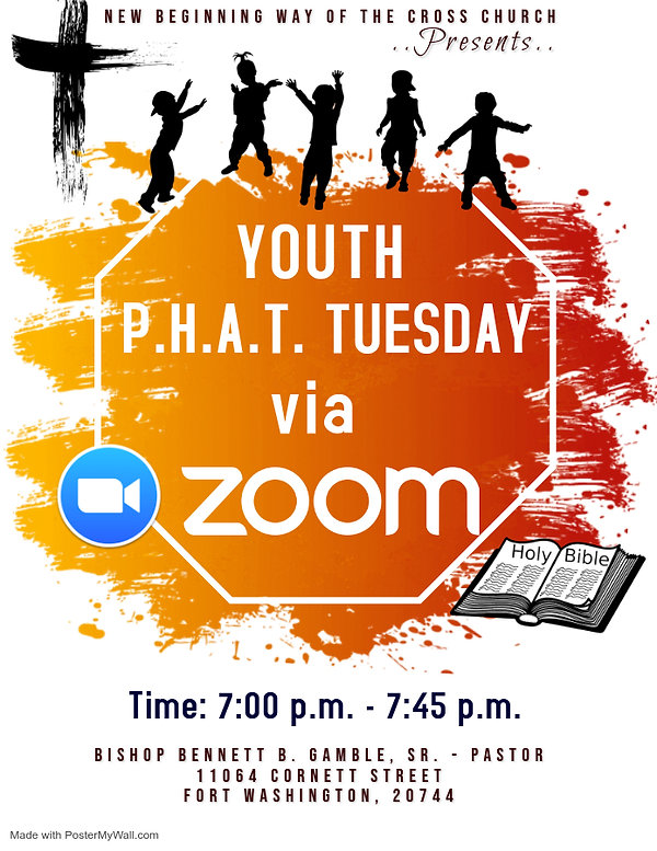 Copy of Youth Church Zoom Flyer - Made w