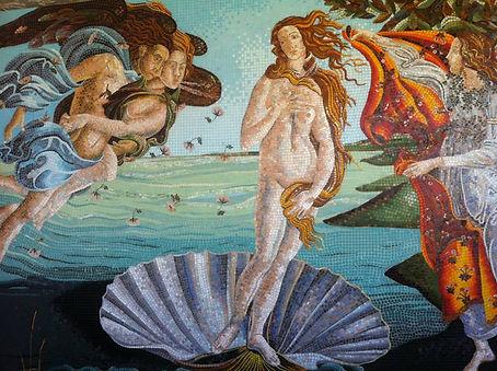 Pandora mozaik sanatcilari tarafindan duvar uygulamasi
