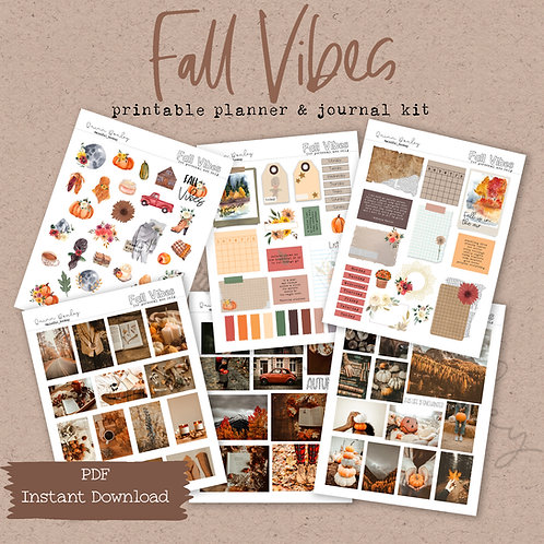 Fall Vibes Journal and Planner Kit