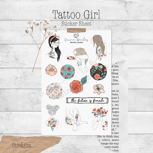 Tattoo Girl Stickers