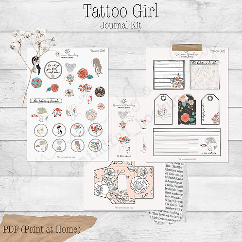 Tattoo Girl Journal and Planner Kit