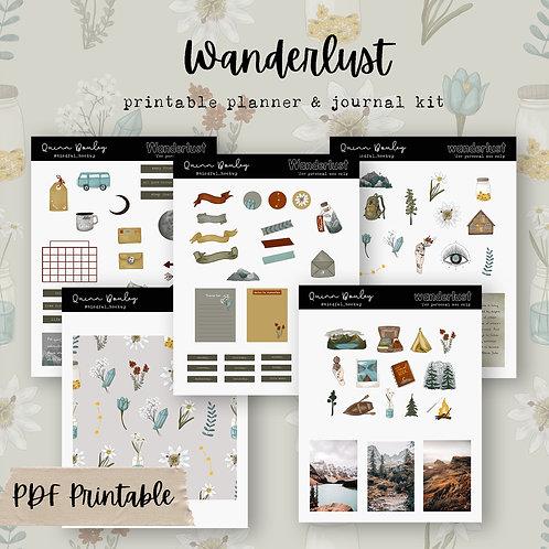 Wanderlust Printable Journal / Planner kit