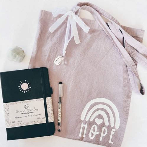 Hand Dyed Hope Tote