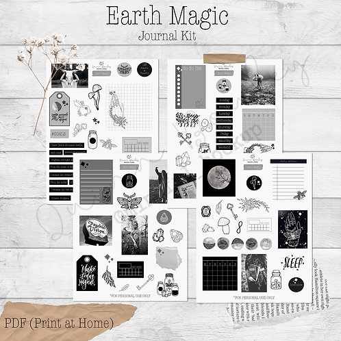 Earth Magic Journal and Planner Kit