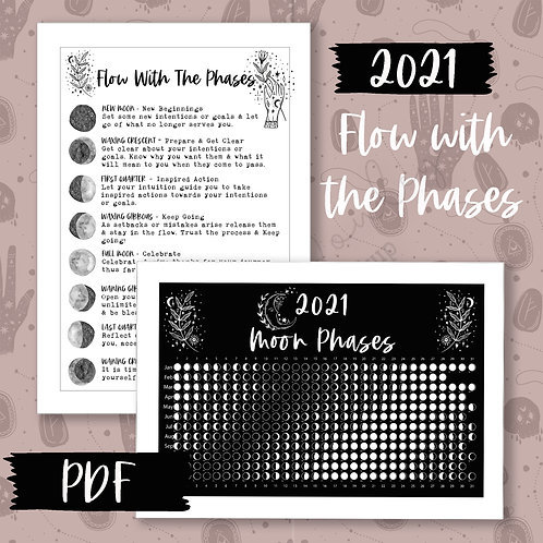2021 Flow with the Moon Phases Printable