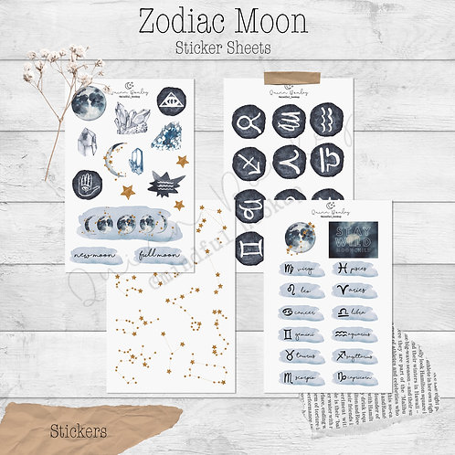 Zodiac Moons Sticker Collection