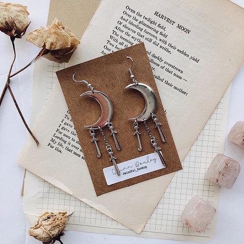 Boho Crescent Moon Earrings
