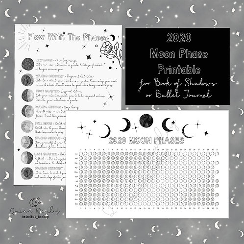 Flow with the Moon Phases Printable