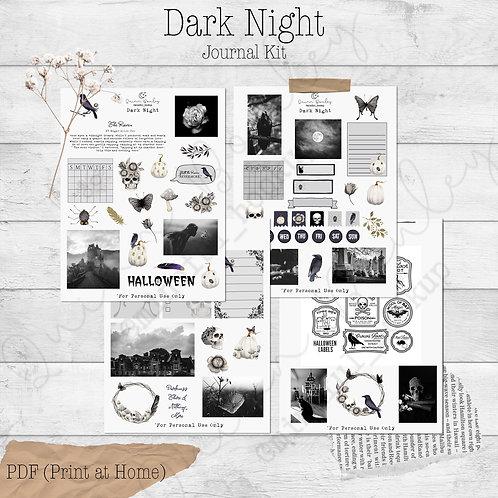 Dark Night Journal and Planner Kit
