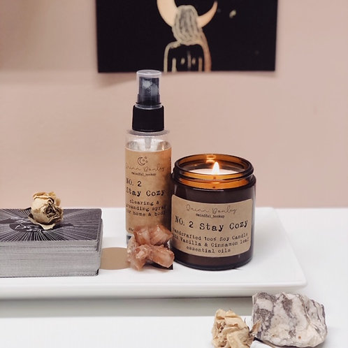 Stay Cozy Candle & Clearing Spray