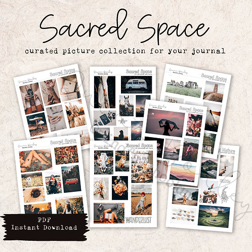 Sacred Space curated printable photos