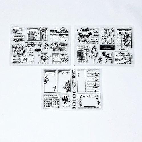 Vintage Floral Stamp Collection
