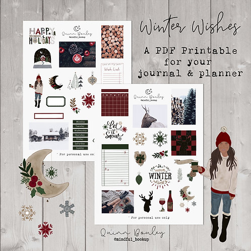 Winter Wishes Journal & Planner Kit