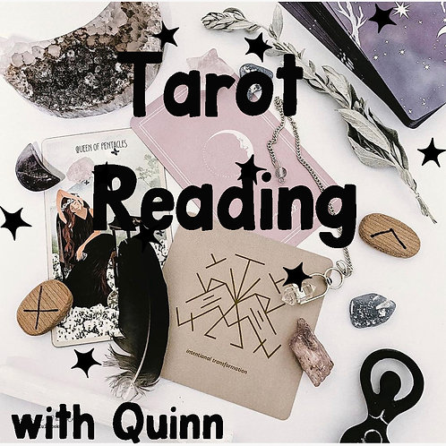 3 /4 Tarot Card Reading with Quinn via Email