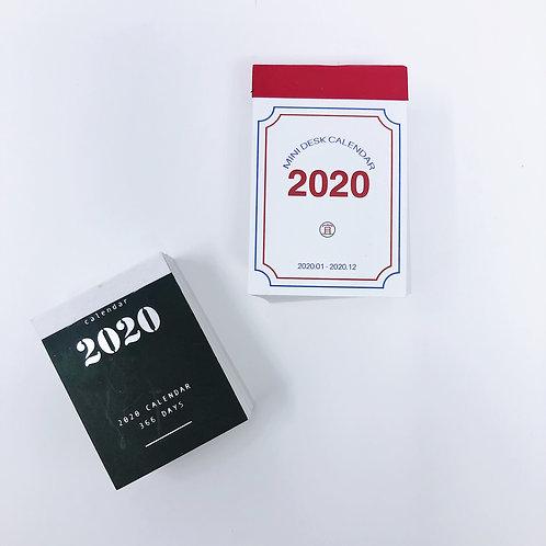 2020 Mini Calendar
