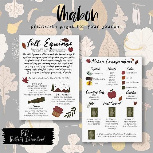 Mabon / Fall Equinox Printable