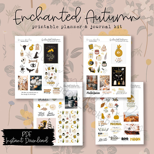 Enchanted Autumn Journal and Planner Kit