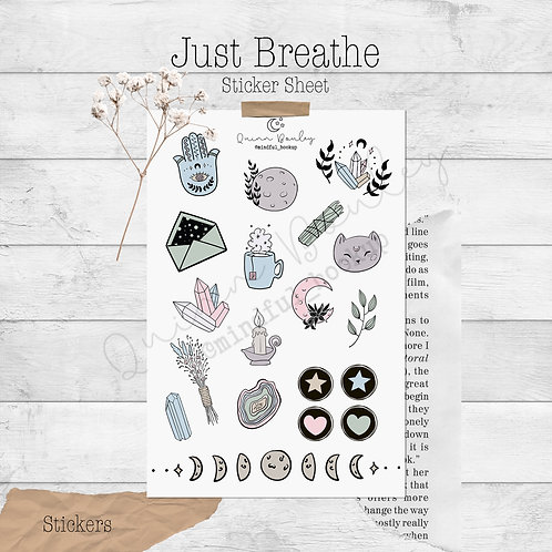 Just Breathe Stickers