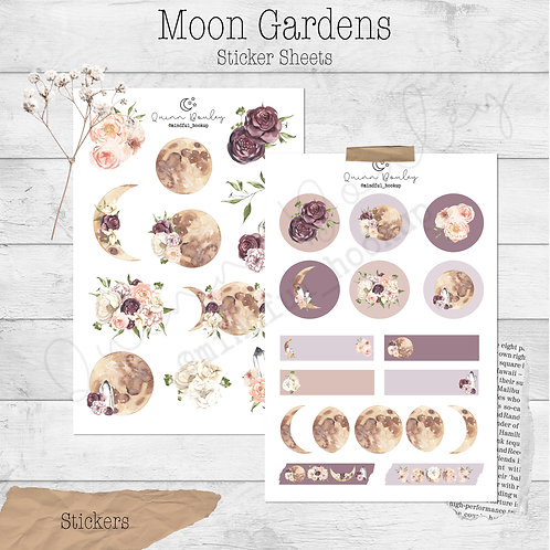 Moon Gardens Journal and Planner Sticker Sheets