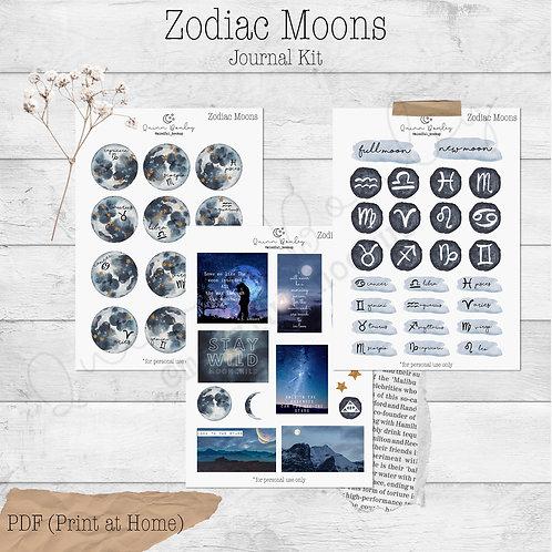Zodiac Moons Journal and Planner Kit