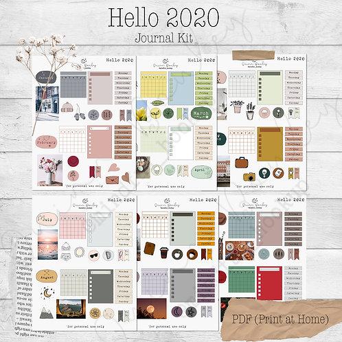 Hello 2020 Journal & Planner Kit